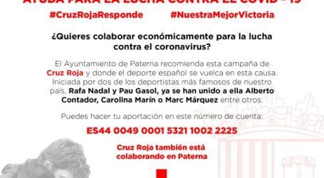 Paterna se suma a la campaña de Cruz Roja de ayuda para la lucha contra el COVID-19