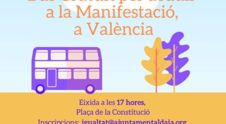 Bus gratuït per acudir al 8M des d'Aldaia