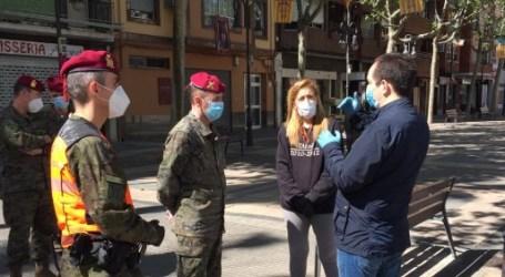 La Policía Militar refuerza la vigilancia del cumplimiento de las medidas de confinamiento en Aldaia