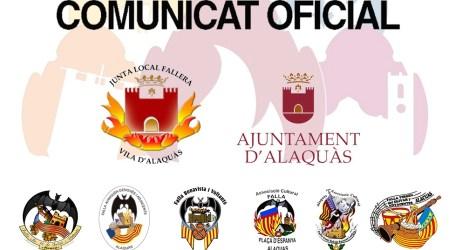 L'ajuntament i el món faller d'Alaquàs acorden per unanimitat suspendre les falles de 2020