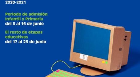 Educación activa la web telematricula.es para tramitar la admisión telemática desde casa
