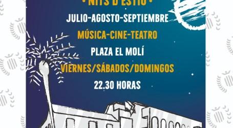 Benetússer estrena su programación cultural estival centrada en actuaciones musicales, teatrales y cine de verano