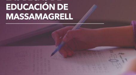 Massamagrell invertirá 60.000 euros en ayudas económicas para el curso escolar 2020/21