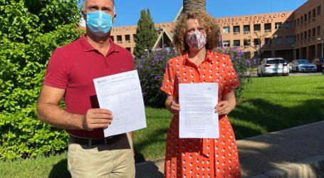 Folgado solicita en sendas cartas a los Consellers de Educación y Sanidad la realización de PCR al personal educativo