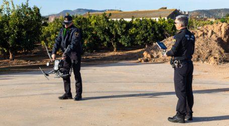 La policía local de Picassent utiliza drones para evitar robos