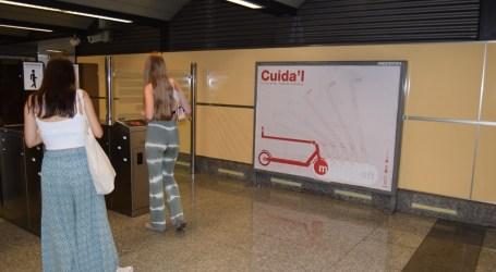 Metrovalencia lanza una campaña para promover el uso correcto de los patinetes en sus instalaciones