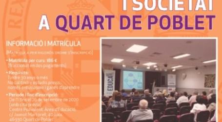 UNISOCIETAT vuelve a Quart de Poblet para el curso 2020/2021