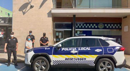 La Policía Local de Benetússer incorpora un nuevo vehículo a su flota