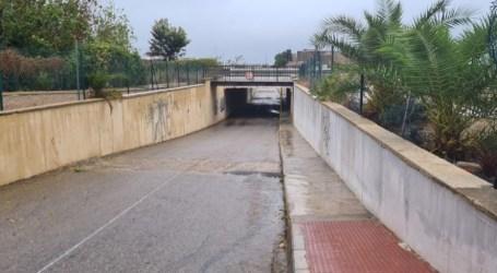 Abiertos todos los túneles de Albal cortados por la lluvia