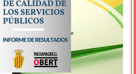 El Ayuntamiento de Massamagrell publica los resultados del II Barómetro Municipal de Calidad de los Servicios Públicos