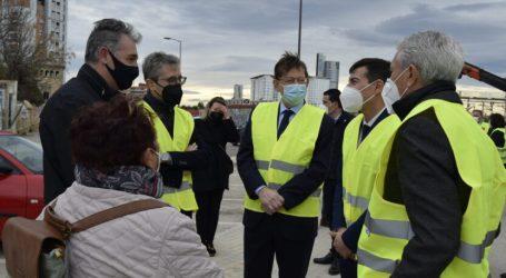 El presidente de la Generalitat y el alcalde de Burjassot visitan las obras del soterramiento de las vías en El Empalme