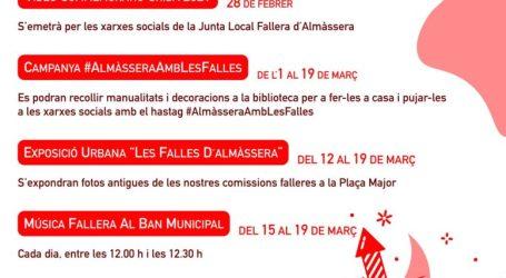 El Ayuntamiento de Almàssera y la Junta Local Fallera mantienen vivo el espíritu fallero