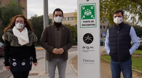 Paterna instala puntos de encuentro seguros para situaciones de emergencia en el Parque Tecnológico