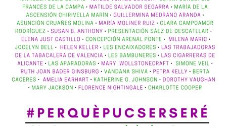 Rafelbunyol celebra el Dia Internacional de les Dones recordant a dones valencianes de la història