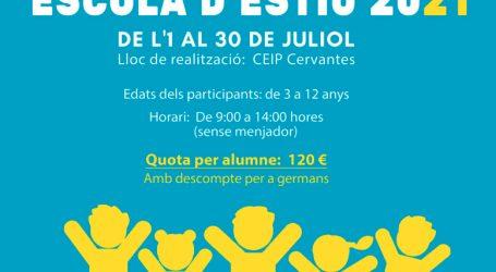 Alboraya abre la matriculación para la XXXIII Escola d'Estiu 2021 el 25 de mayo