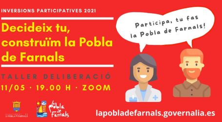 Els veïnat de La Pobla de Farnals votarà del 17 al 24 de maig els projectes de les inversions participatives