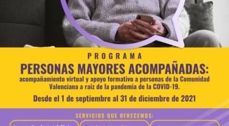 El Ayuntamiento de Burjassot pondrá en marcha su Programa de acompañamiento a personas mayores