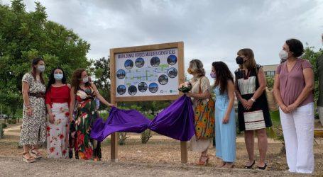 Pilar Mateo inaugura las 11 zonas ajardinadas del Parc Tecnològic de Paterna bautizadas con nombres de científicas