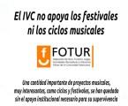 FOTUR: «El Instituto Valenciano de Cultura no apoya los festivales ni los ciclos musicales»
