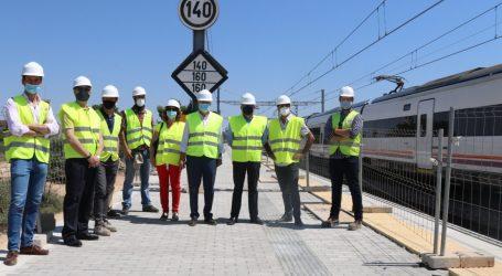 Las obras de la estación de tren de Albal continúan a buen ritmo