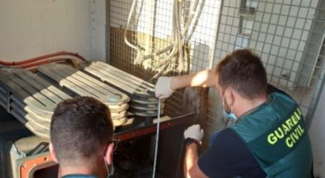 La Guardia Civil desarticula una organización criminal dedicada al robo de cobre en Alcàsser