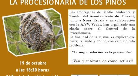 El Ayuntamiento y la AVV El Vedat organizan una charla sobre el control de la procesionaria