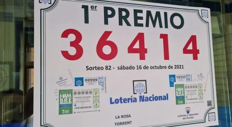 La administración de lotería número 5 de Torrent reparte 6 millones de euros de la Lotería Nacional