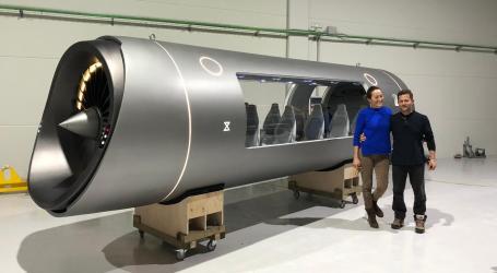 La maqueta del Hyperloop creada en Alboraya se expone en Dubai