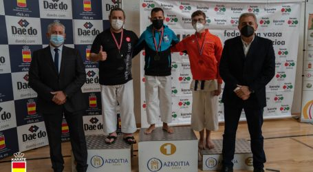 El karateka Félix Escribano va aconseguir la medalla de plata en Azkoitia