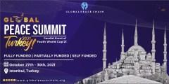 فرصة المشاركة في قمة السلام العالمية في تركيا 2021 (مؤتمر ممول بالكامل)
