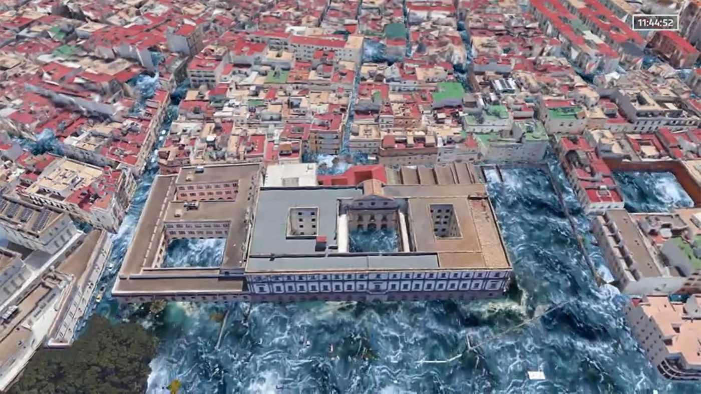 Tsunami en Cádiz recreado en la Sexta