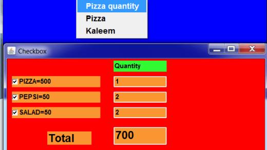 Operations menu