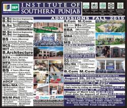 ISP admission 26-08-2019