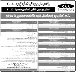 CAA Job advertisement 11/2019