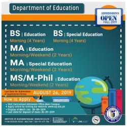 ISP admission BS/ MA 2019
