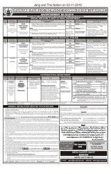 Punjab Police PPSC Advt 38 2019