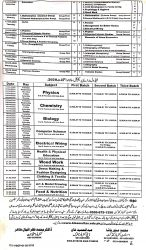 9th-10th date sheet and practical schedule