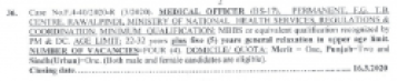 Medical Officer Jobs Ministry of National Health Services