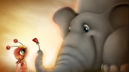 حكاية الفيل والنملة للأطفال