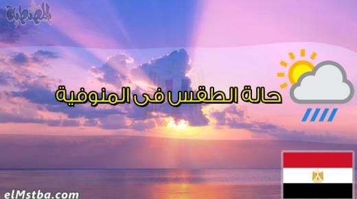 حالة الطقس فى المنوفية، مصر اليوم #Tareekh