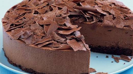 طريقة عمل موس الشوكولاتة