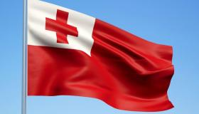 ما معنى ألوان علم تونغا؟