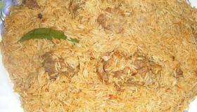 عمل مضغوط اللحم بالأرز البسمتي