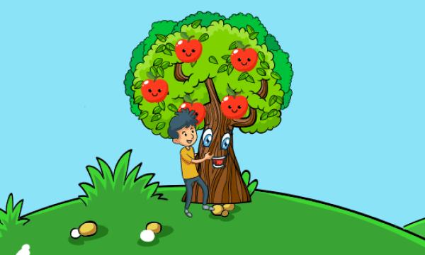 قصة وحكمة حكاية الطفل وشجرة التفاح