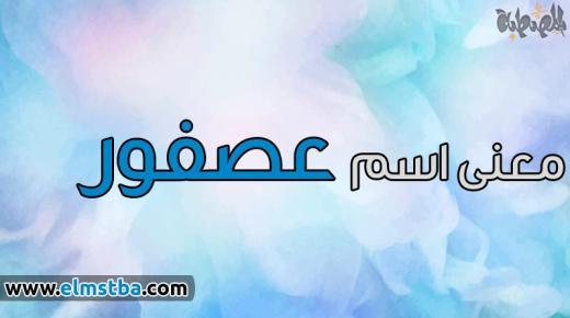 معنى اسم عصفور Asfour في اللغة العربية وصفات حامل اسم عصفور