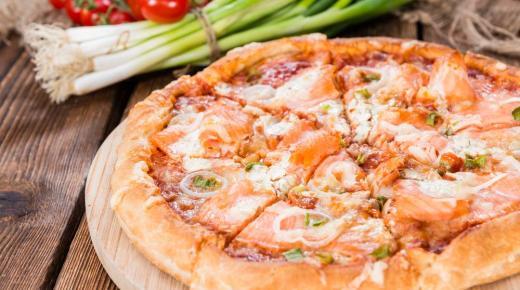 طريقة تحضير بيتزا السلمون