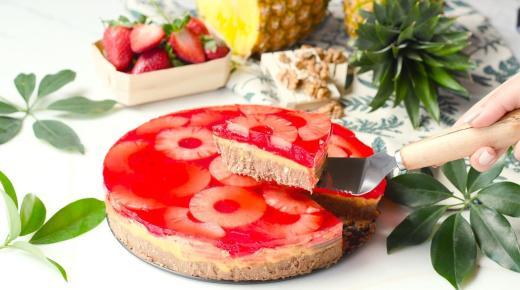 طريقة تحضير الجلي بالبسكويت وكيكة الجيلي بالفراولة