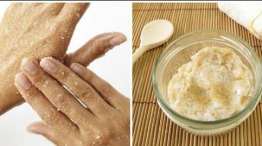كيفية تحضير مقشر السكر لتنعيم يديك