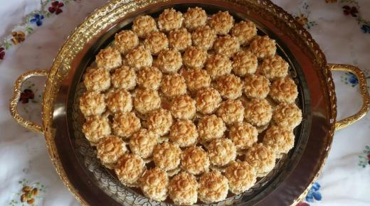 عمل أطيب الحلويات المغربية في المنزل