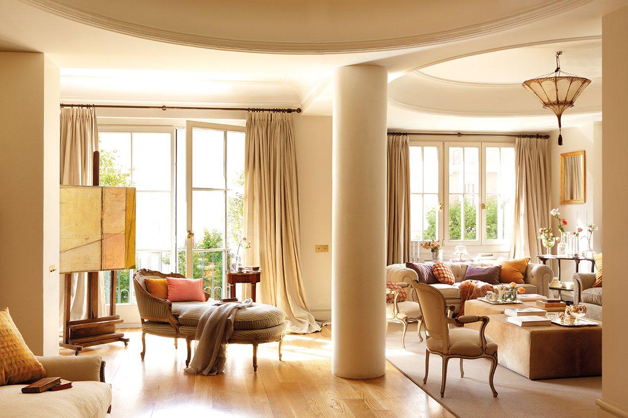Un plus de nobleza en un piso de Madrid